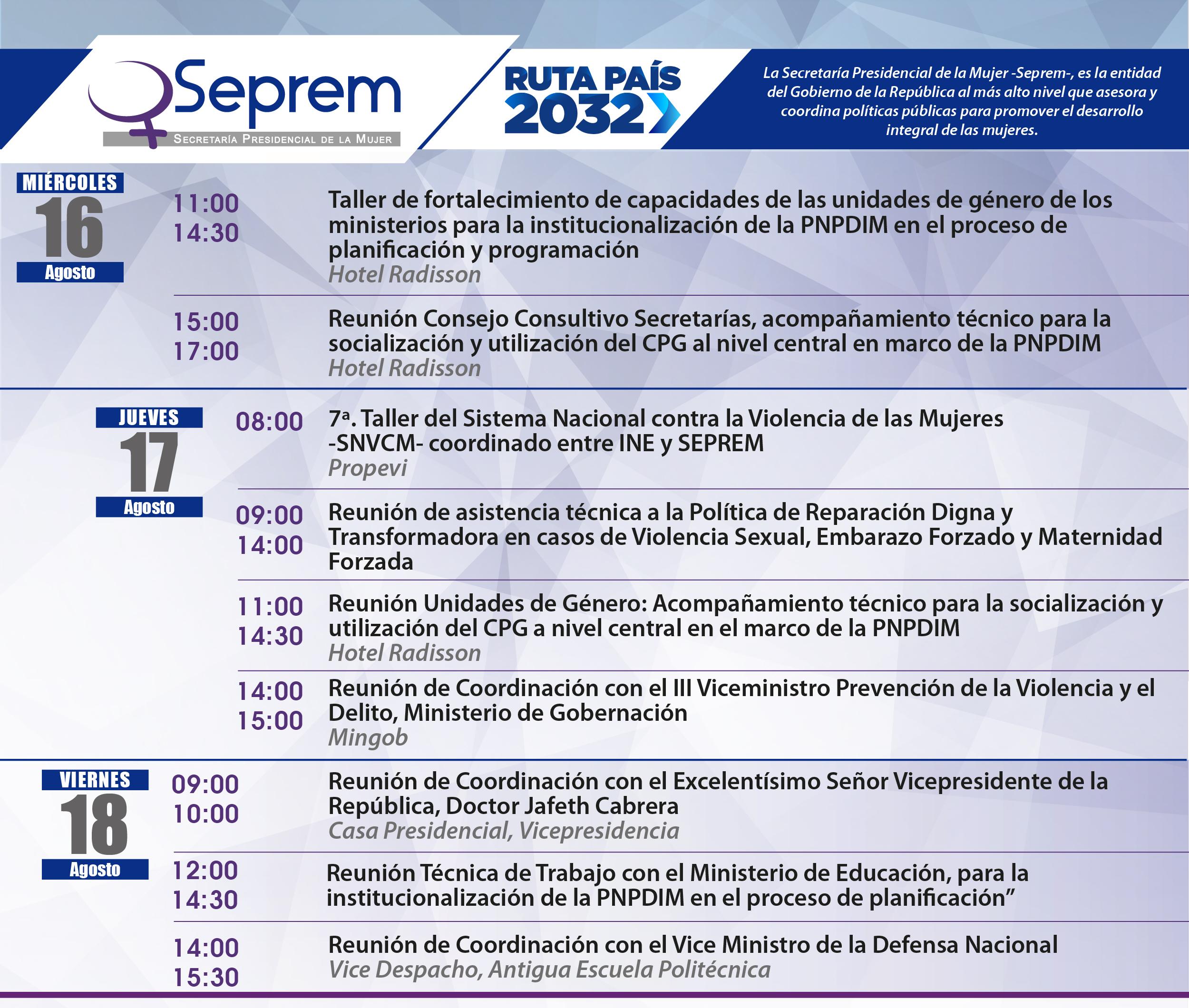 agenda de actividades 14 al 18 de agosto (1)