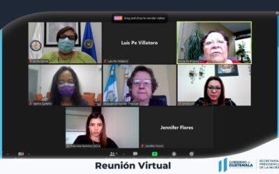 Reunión con la Secretaria Técnica del Consejo de Ministras de la Mujer de Centroamérica, COMMCA