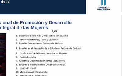 Reunión virtual de la Red de Directoras Municipales de la Mujer -DMMs- del departamento de Baja Verapaz.