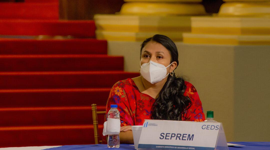 Subsecretaria Presidencial de la Mujer sra. Silvia Alejandra Hernández Chinchilla, participó en el Gabinete Específico de Desarrollo Social