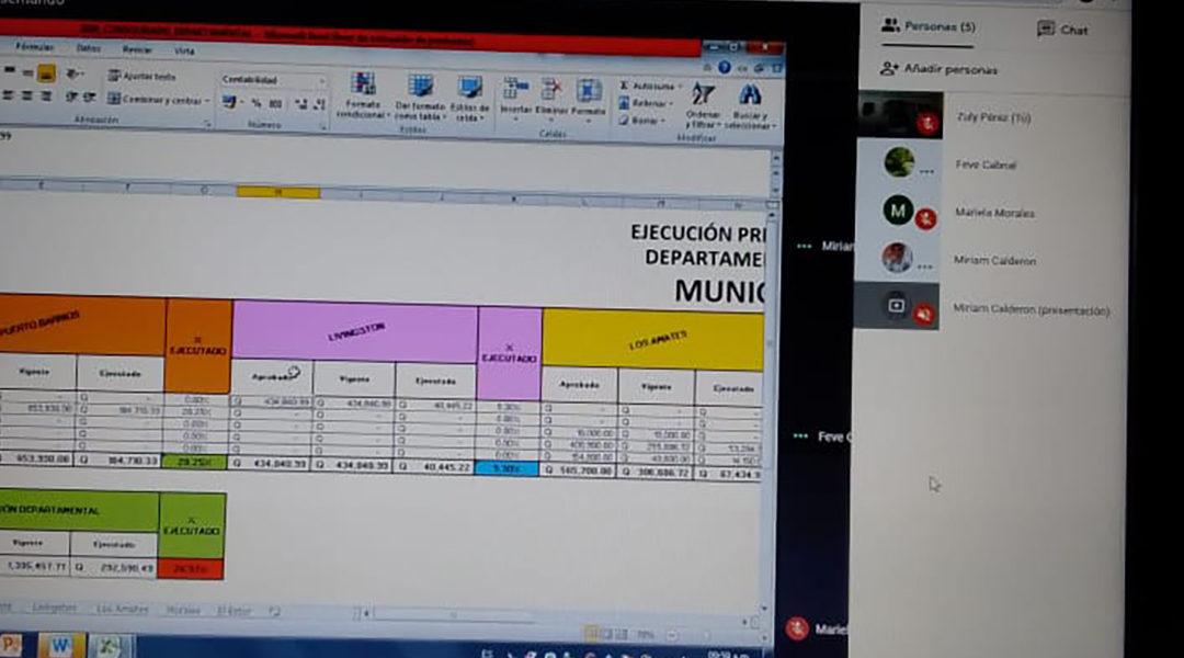Reunión virtual de la Red de Directoras Municipales de la Mujer -DMM- del departamento de Izabal.