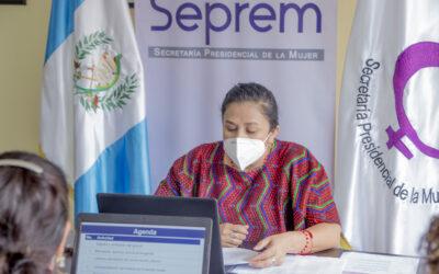 La Secretaría Presidencial de la Mujer, SEPREM, lleva a cabo la Sexta Reunión Ordinaria de la Mesa Temática de Mujeres del Gabinete Especifico de Desarrollo Social GEDS