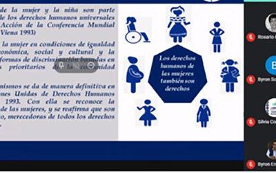 Reunión virtual de socialización de la Política Nacional de Promoción y Desarrollo Integral de las Mujeres PNPDIM y Marco Normativo de los derechos de las Niñas y Mujeres con Discapacidad.