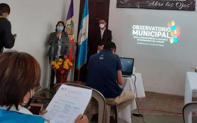 Participación en la presentación pública del Observatorio de Violencia Intrafamiliar y Violencia contra la Mujer.