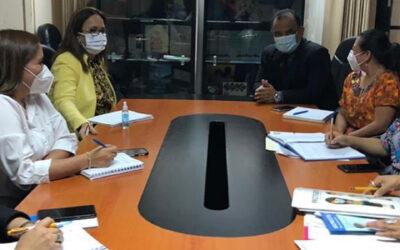 Reunión de direcciones técnicas de la Secretaría Presidencial de la Mujer y Secretaría Contra la Violencia Sexual, explotación y trata de personas.